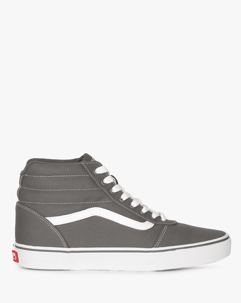 High-Top Lace-Up Shoes By Vans ( Grey )
