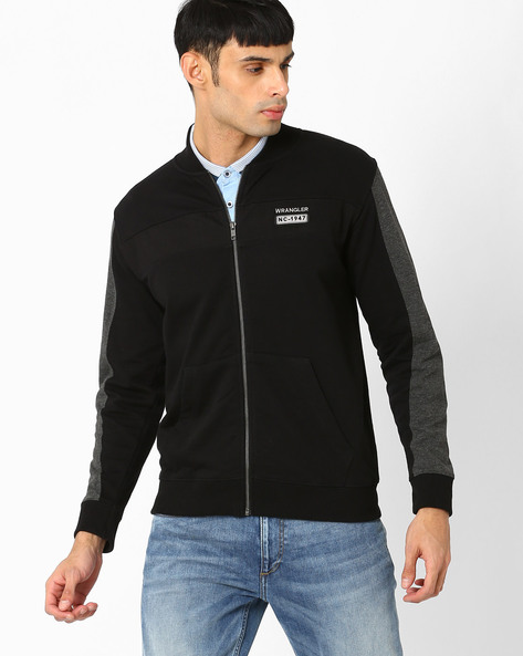 Sweatshirt With Panelled Sleeves By WRANGLER ( Black )