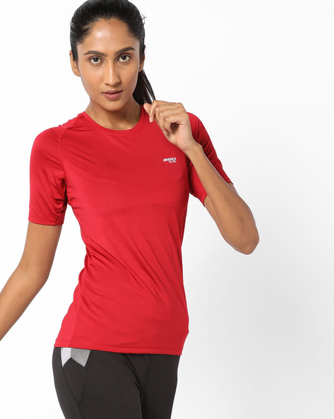 Go-Dry Crew-Neck T-shirt By 2Go ( Red )