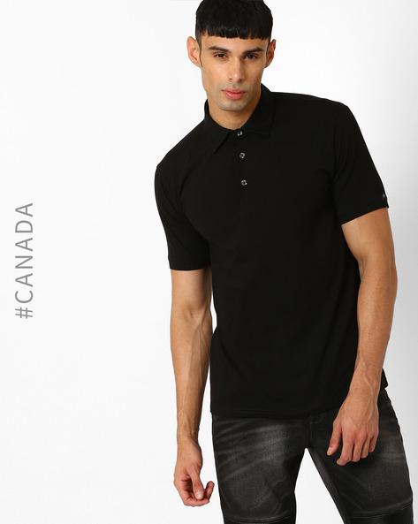 Slim Fit Organic Cotton Stretch T-shirt By Point Zero ( Black )