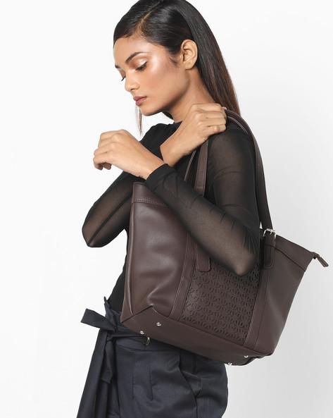 Laser-Cut Tote Bag By Toteteca ( Brown )