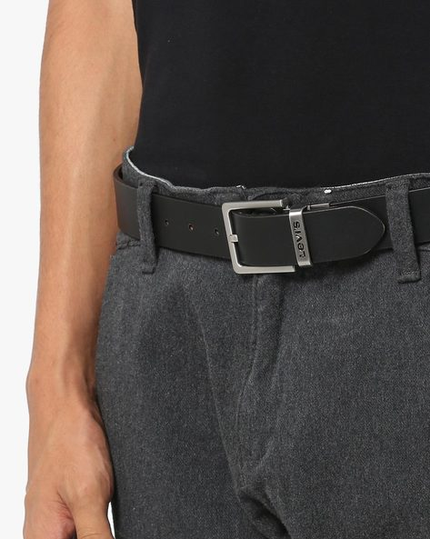 Leather Belt With Buckle Closure By LEVIS ( Brown )