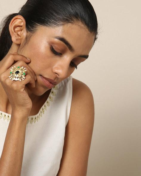 Matte Finish Brass Ring By Indie Picks ( Multi ) - 460161682001