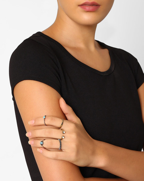 Set Of 5 Stackable Rings By Pipa Bella ( Multi )