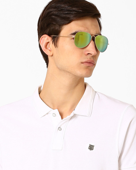 Mirrored Aviators With UV Protection By MTV ( Golden )