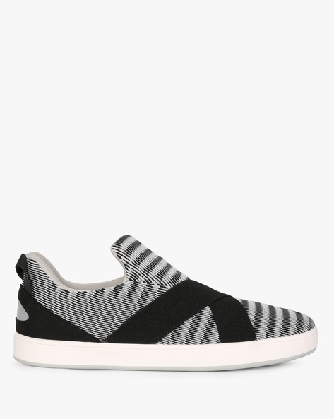 Slip-On Sneakers With Criss-Cross Overlay By UNITED COLORS OF BENETTON ( Grey )