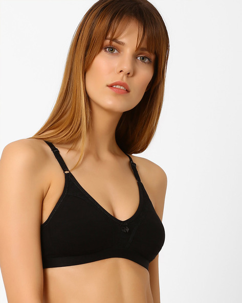 Non-Padded Lace Bra By Zivame ( Black )
