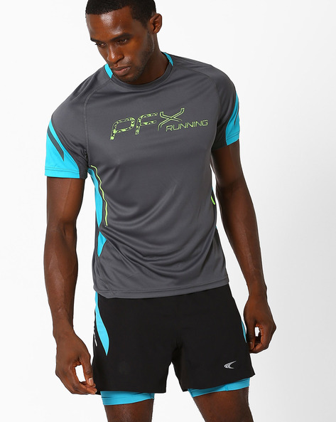 Running T-shirt With Quick Dry By PERFORMAX ( Charcoal )