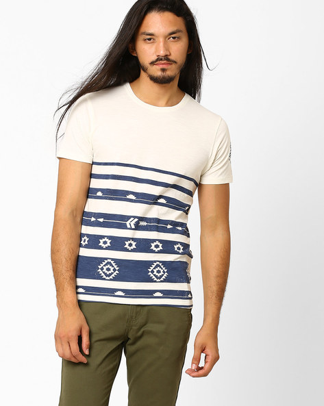 Printed Cotton T-shirt By FLYING MACHINE ( Assorted )