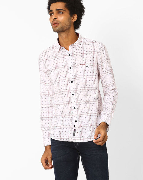 Printed Cotton Shirt By SIN ( Maroon ) - 460027344004