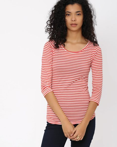Striped Top By Honey By Pantaloons ( Ecru )