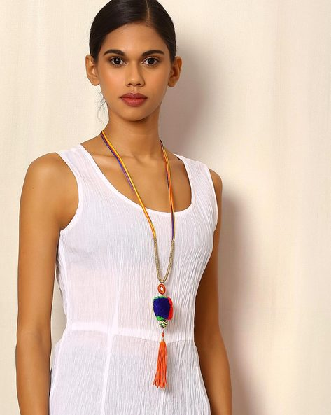 Lariat Style Necklace By Indie Picks ( Multi ) - 460054546001