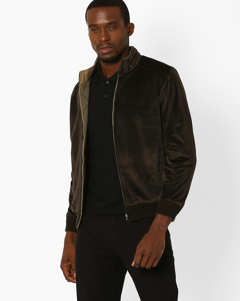 Regular Fit Reversible Jacket By MONTE CARLO ( Darkgrey )