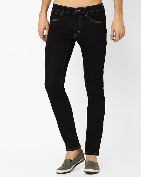Low-Rise Tapered Skinny Jeans By Lee ( Dkblue )