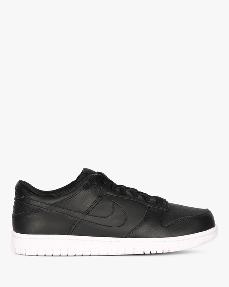 Dunk Low Sneakers With Lace-Up Styling By NIKE ( Black )