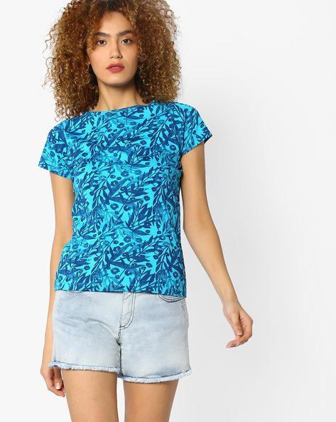 Printed T-shirt With Short Sleeves By WRANGLER ( Blue )