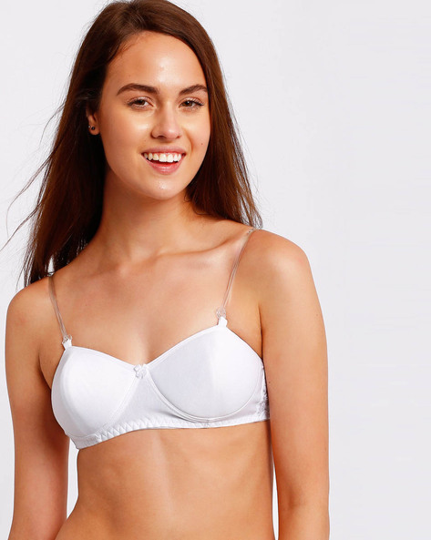 Seamless Bra With Detachable Straps By Floret ( White )