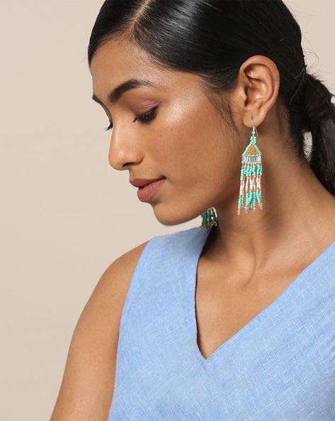 Beaded Dangler Earrings By Indie Picks ( Multicolour ) - 460167634001