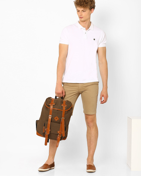Canvas Travel Backpack By AJIO ( Brown )