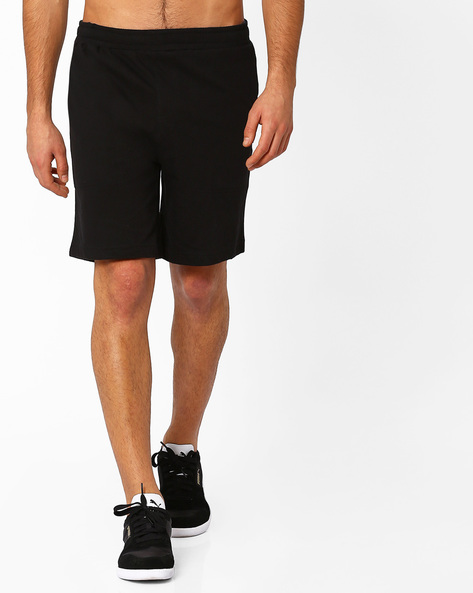 Sports Shorts With Elasticated Waistband By HANES ( Black )