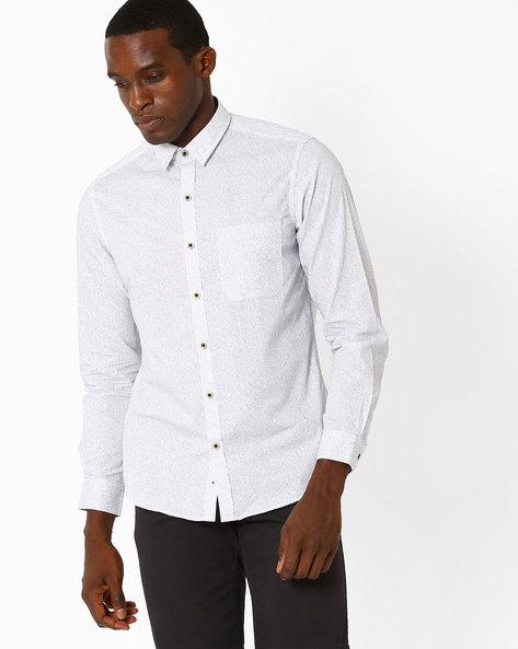 Slim Fit Striped Shirt By JOHN PLAYERS ( White )