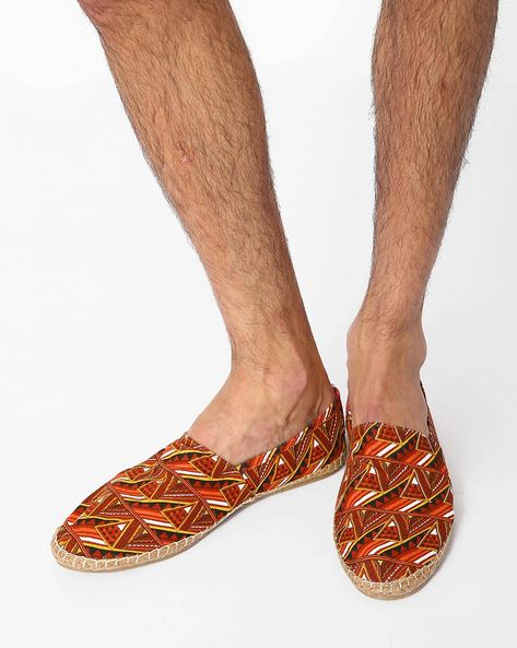 Geometric Print N9-Treated Canvas Espadrilles By AJIO ( Multi )