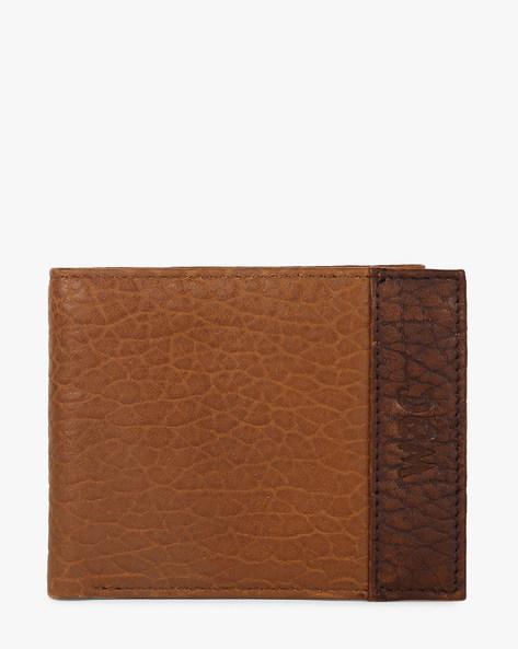 Rugged Biker Bi-Fold Leather Wallet By WRANGLER ( Darkbrown )