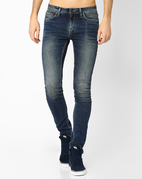 Low-Rise Skinny Fit Jeans By Jack & Jones ( Blue ) - 460031119004