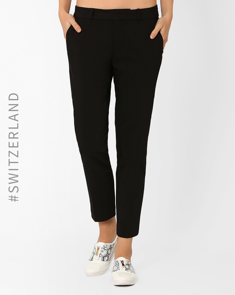 Ankle-Length Trousers By TALLY WEiJL ( Black )