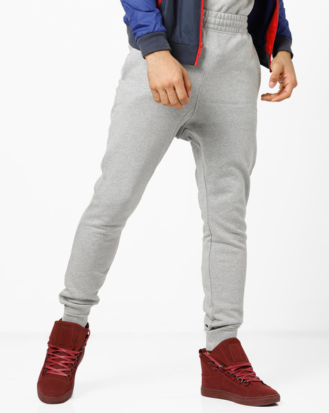 Mid-Rise Joggers With Elasticated Waistband By Reebok ( Grey )