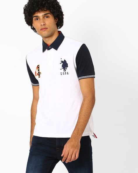Polo T-shirt With Contrast Sleeves By US POLO ( Assorted )