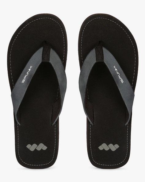 Flip-Flops With Running Stitch Detail By Spunk ( Grey )