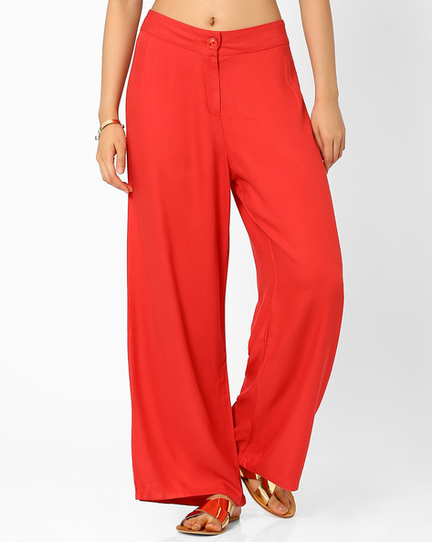 Alba Palazzo Pants By Global Desi ( Rust )