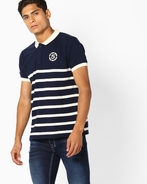 Regular Fit Polo T-Shirt By Pepe Jeans ( Navy )