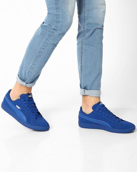 Smash Buck Casual Shoes By Puma ( Blue )
