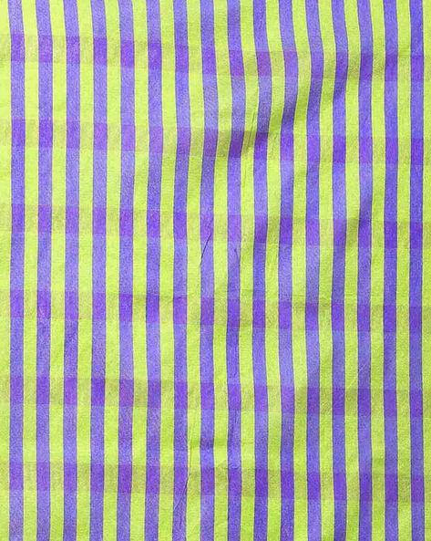 Striped Mysore Silk Saree By Florence ( Pink )