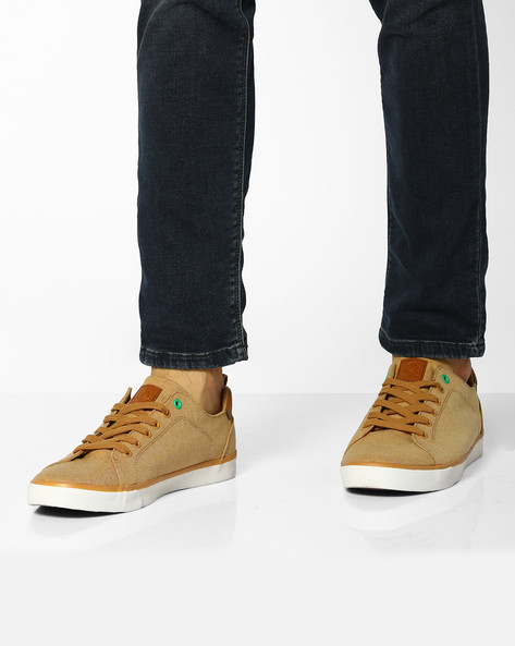 Canvas Low-Top Sneakers By UNITED COLORS OF BENETTON ( Beige )