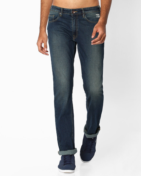 Lightly Washed Regular Fit Jeans By Pepe Jeans ( Indigo )