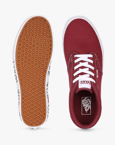 Atwood Lace-Up Casual Shoes By Vans ( Red )