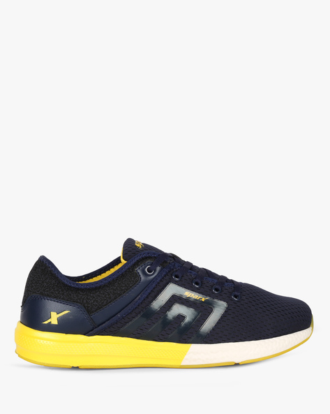 Colourblock Lace-Up Sports Shoes By SPARX ( Navy )