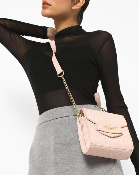 Textured Sling Bag By Carlton London ( Pink )