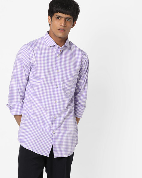 Checked Shirt With Patch Pocket By US POLO ( Blue ) - 460182995001