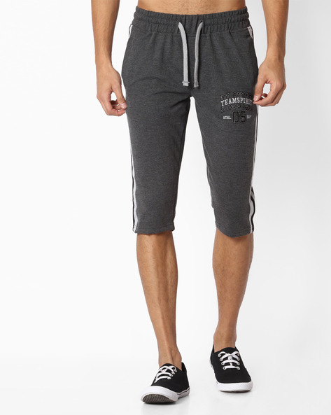 Regular Fit Shorts With Drawstring Fastening By TEAM SPIRIT ( Charcoal )