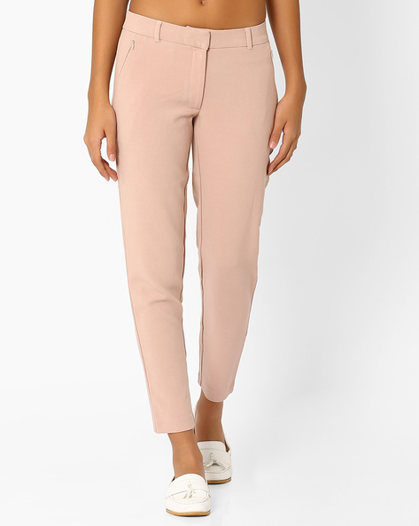 Tapered Ankle-Length Trousers By Vero Moda ( Rose )