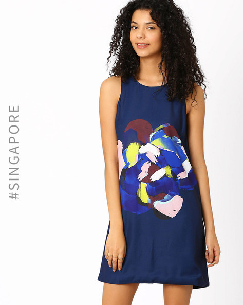 Printed Shift Dress By MDS ( Multi )
