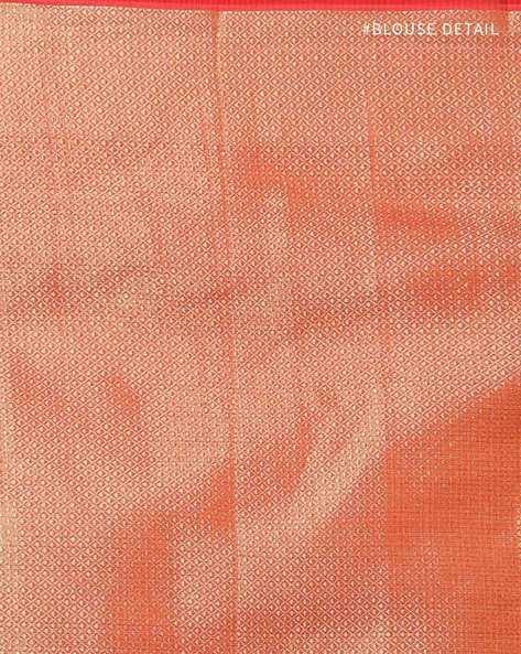 Banarasi Silk Butidar Saree With Brocade Pallu By Banarasi Style ( Red )