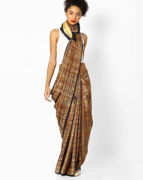 Digital Print Saree By Parmita ( Brown )