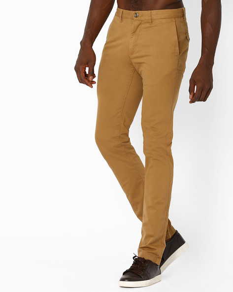 Slim Fit Cotton Chinos By US POLO ( Khaki )