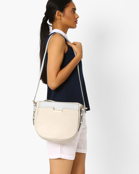 PU Sling Bag By AJIO ( Beige )