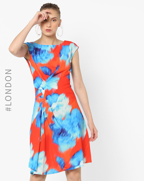 Colourblock Shift Dress With Ruching By Closet London ( Multi )